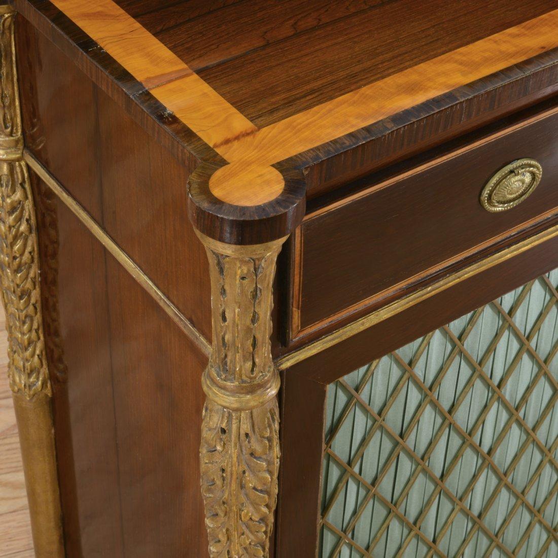 Nice George III parcel gilt rosewood side cabinet - 5