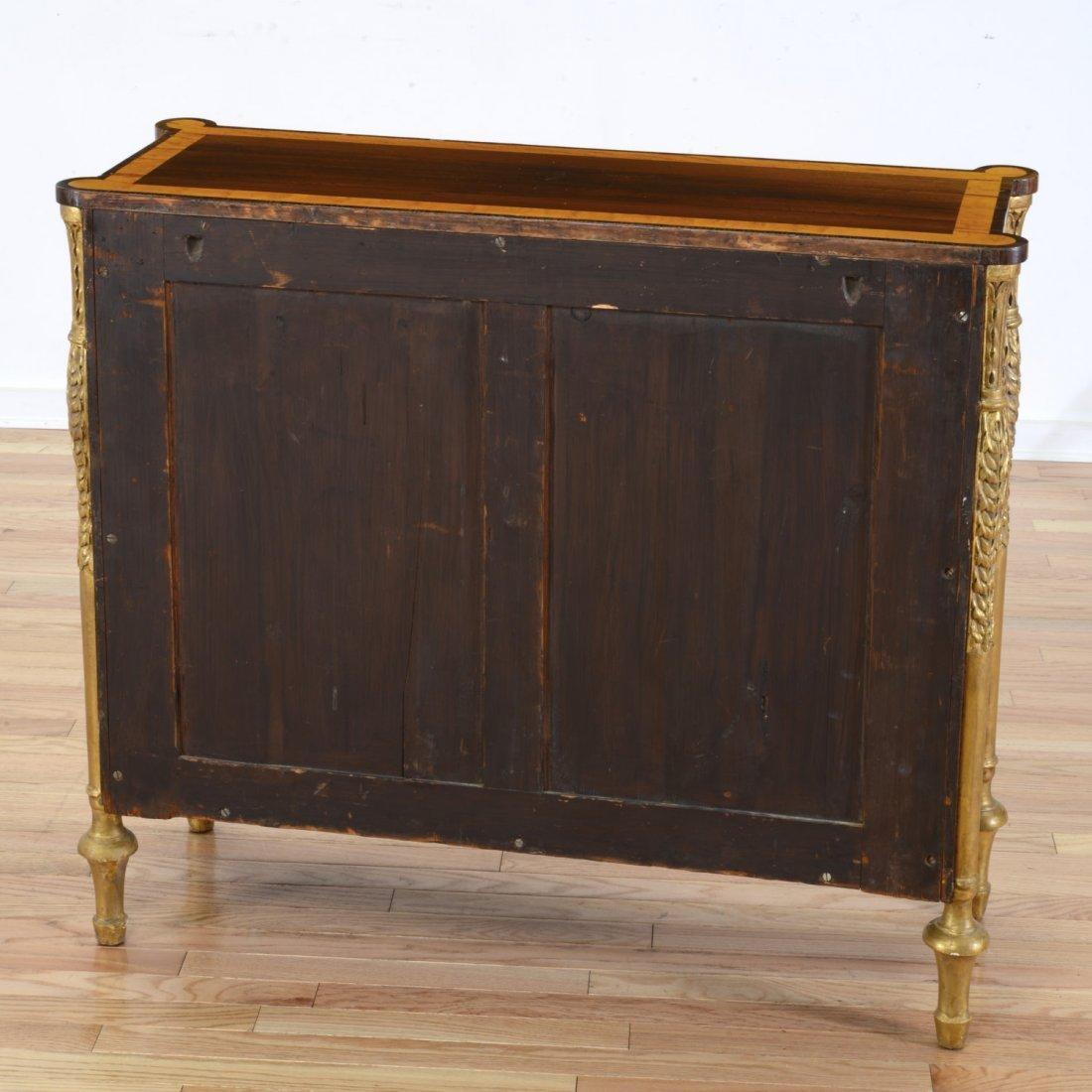 Nice George III parcel gilt rosewood side cabinet - 6