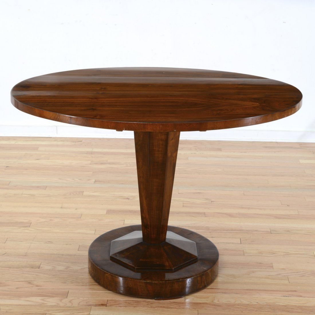 Manner Jules Leleu Deco rosewood center table