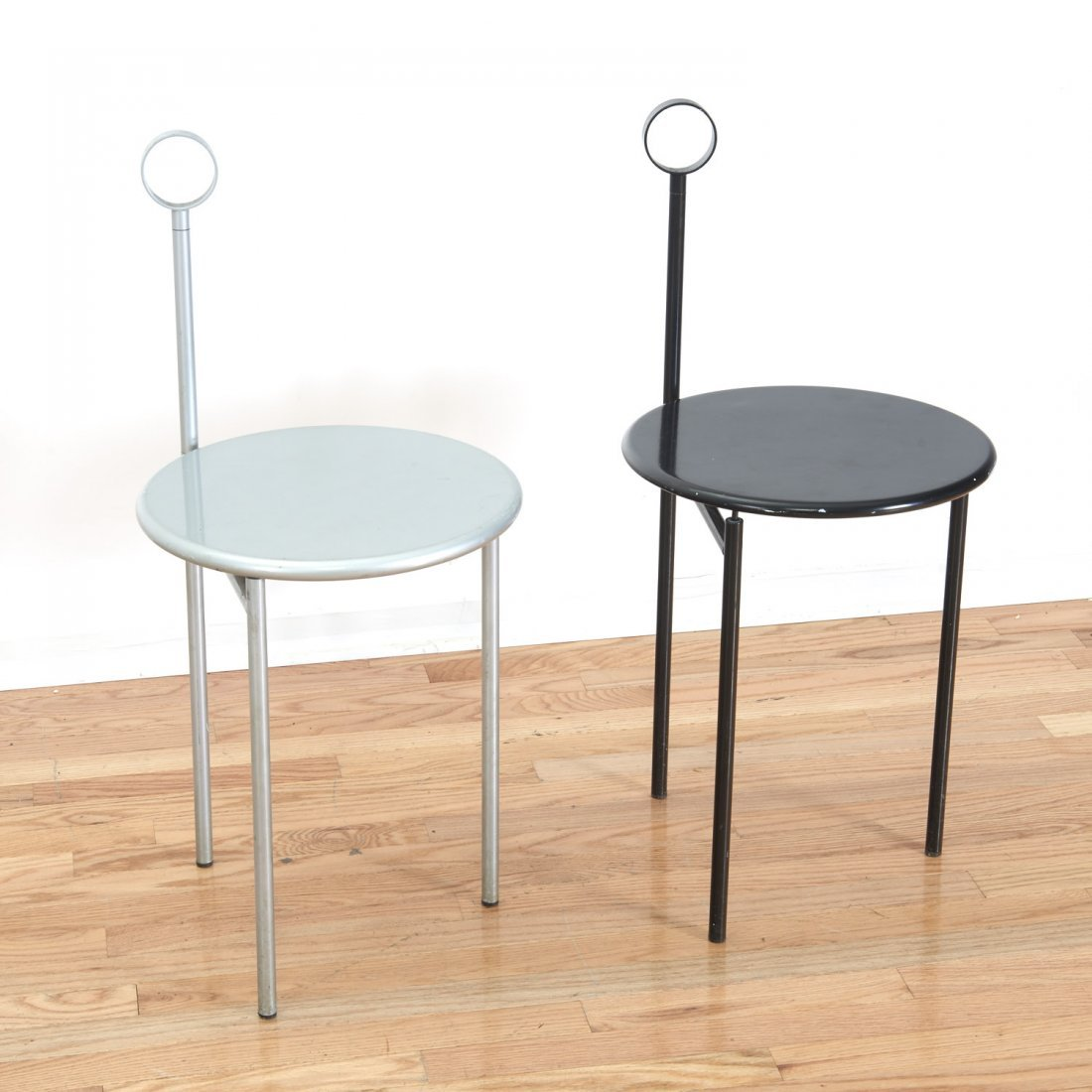"Pair Philippe Starck ""Mickville"" folding chairs"
