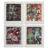 Janis Provisor, set (4) paintings