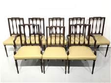 Set (8) George III style mahogany dining chairs
