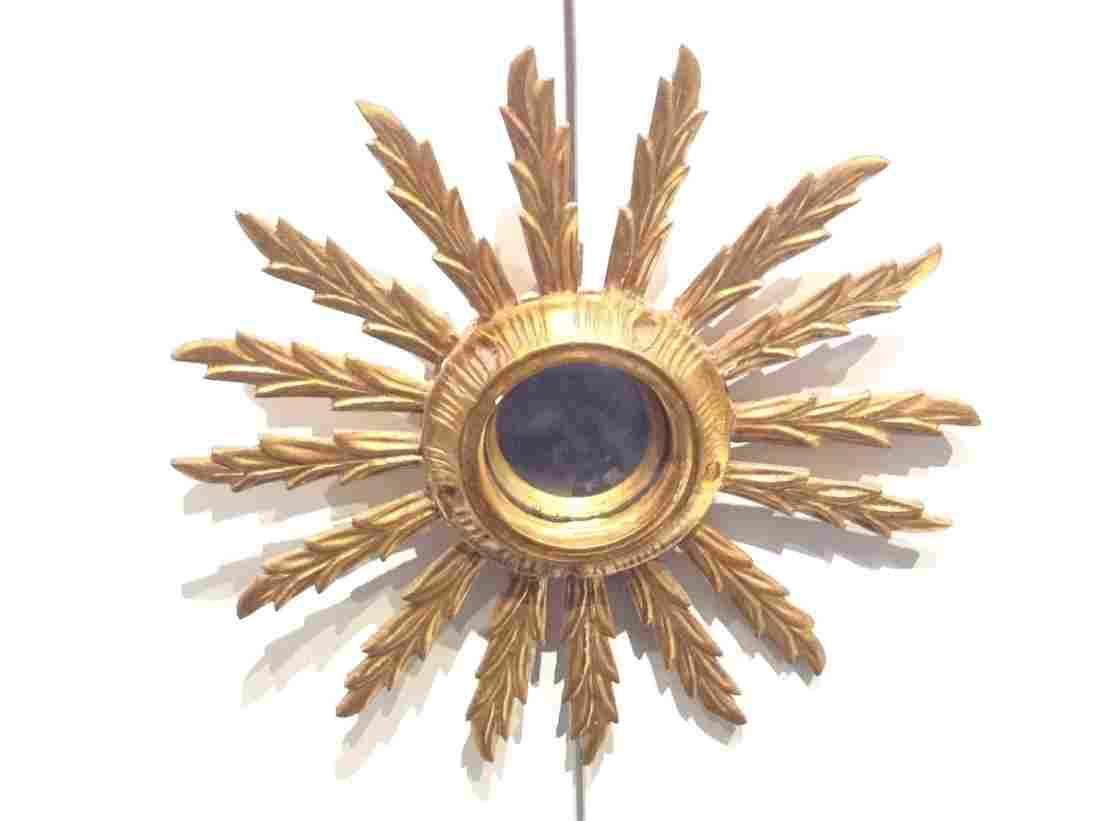 Small Italian gilt wood sunburst mirror