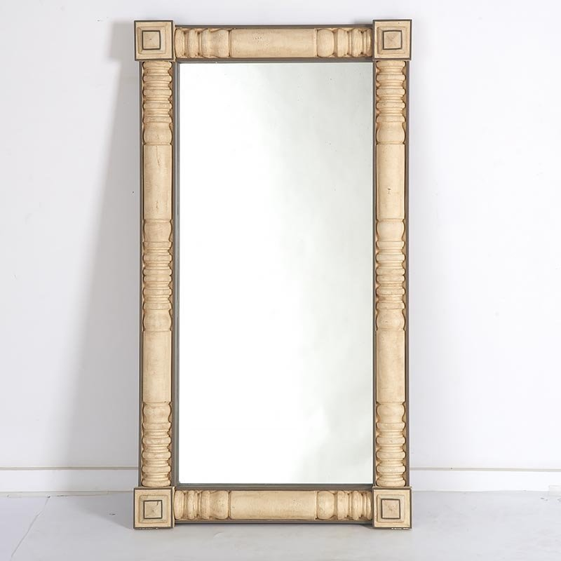 Designer paint decorated split baluster mirror