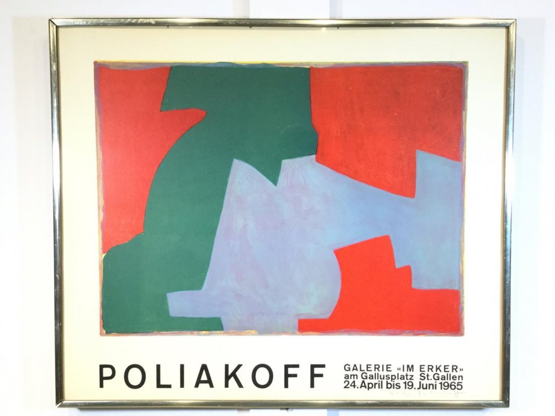 Signed Serge Poliakoff exhibition poster