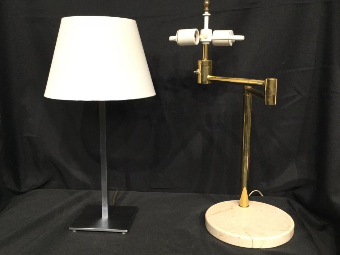 (2) Hansen and Nessen Modernist table lamps