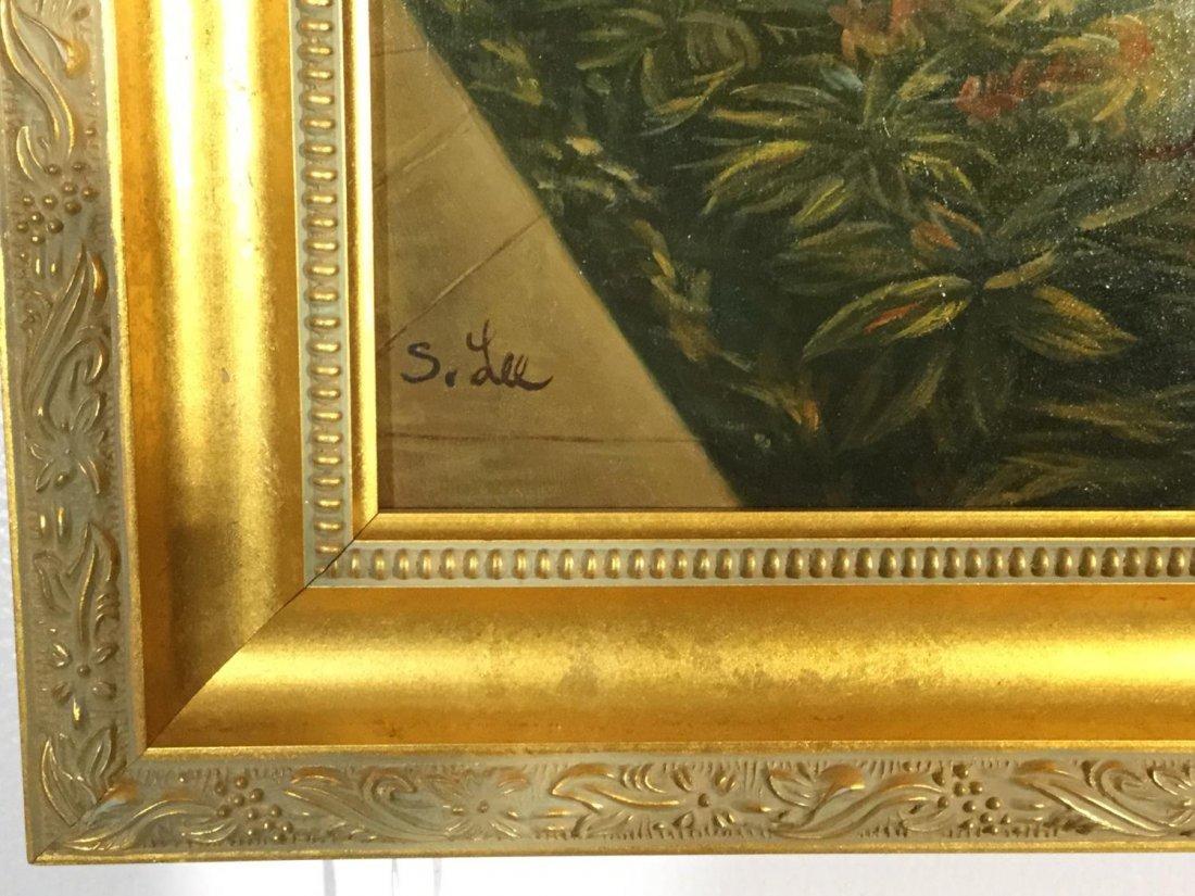 S. Lee (20th c.), interior design painting - 2