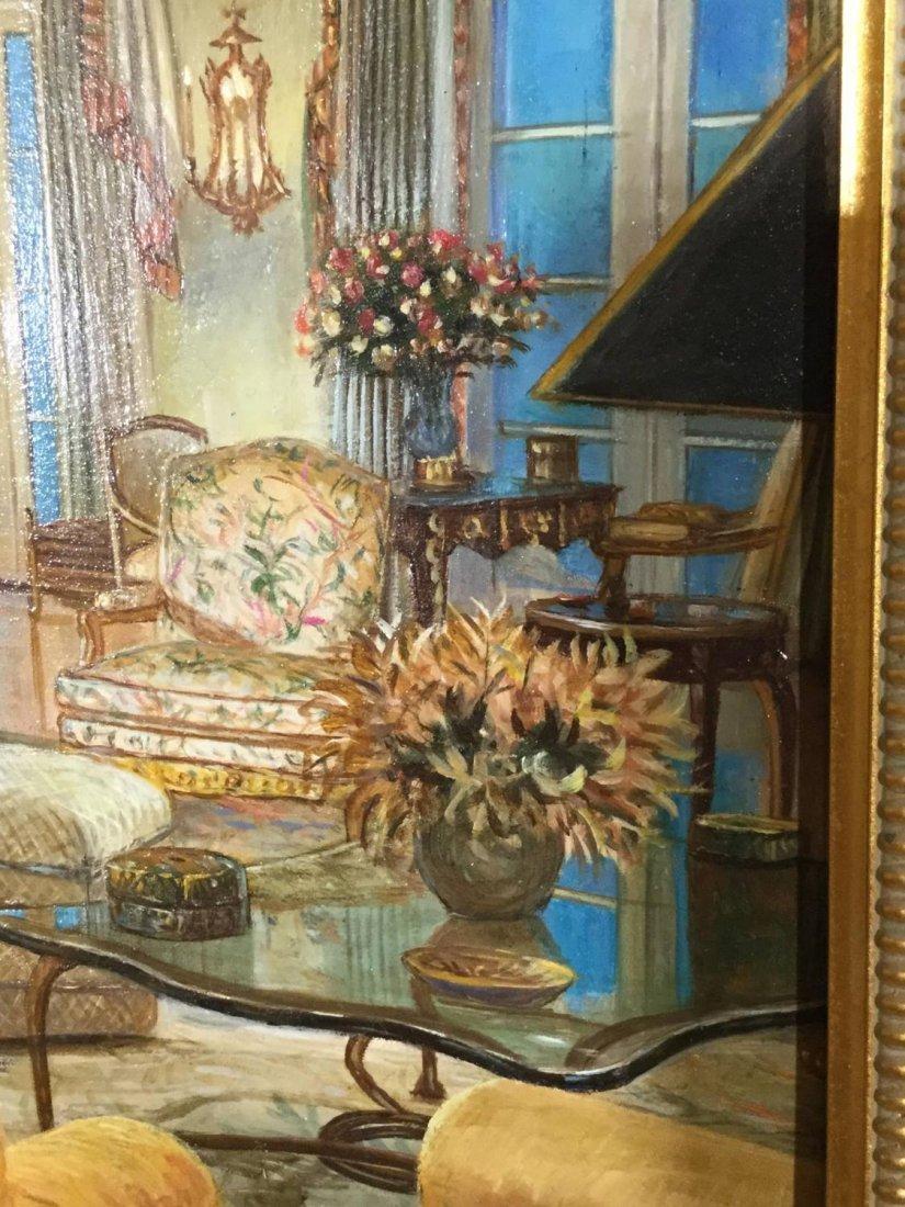 S. Lee (20th c.), interior design painting - 3