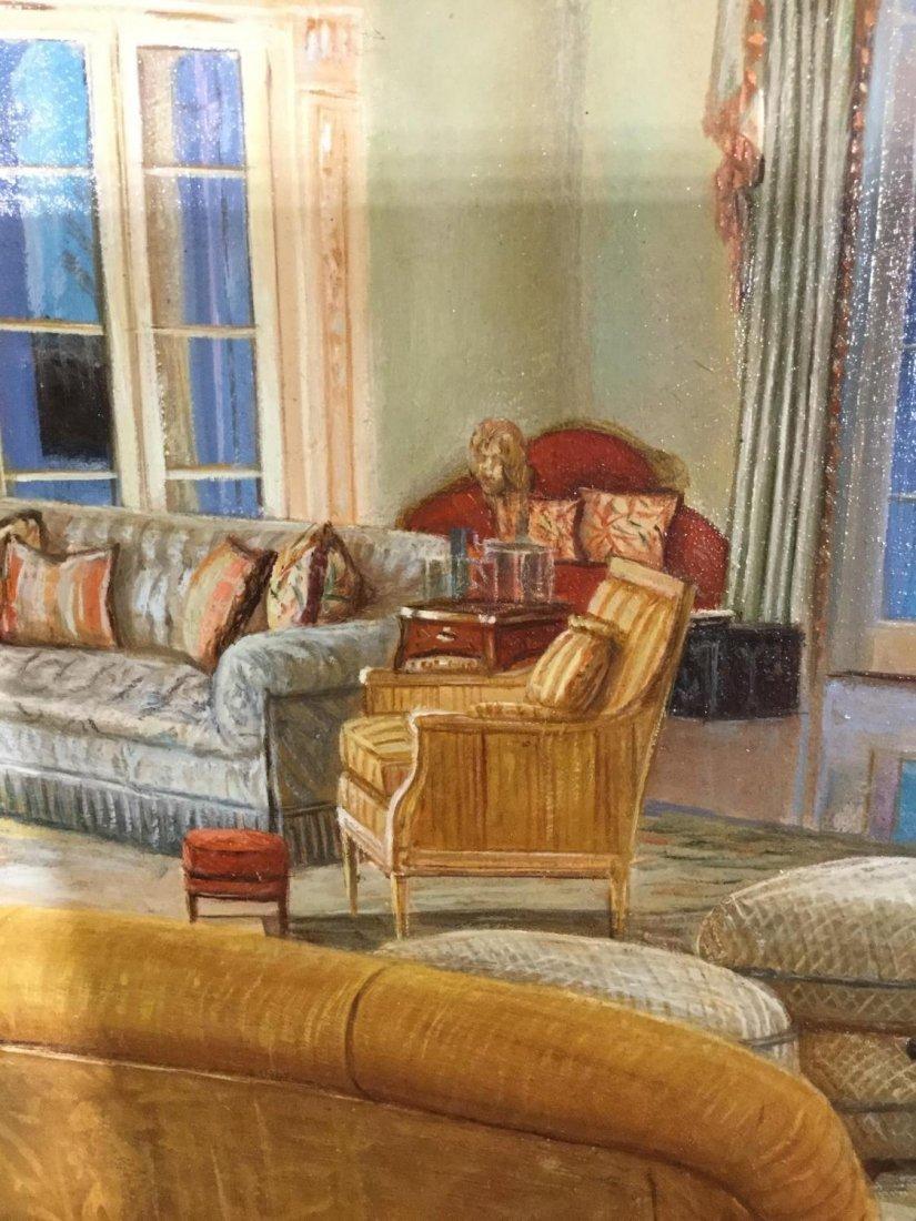 S. Lee (20th c.), interior design painting - 4