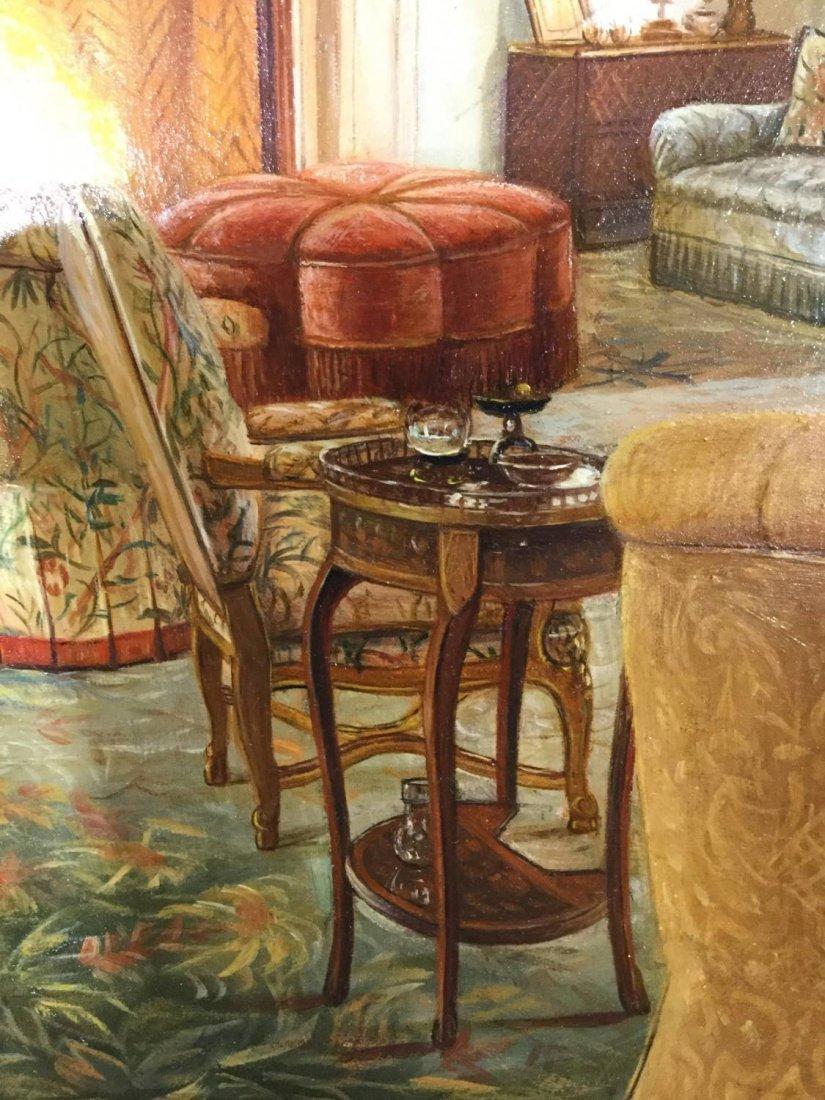 S. Lee (20th c.), interior design painting - 5