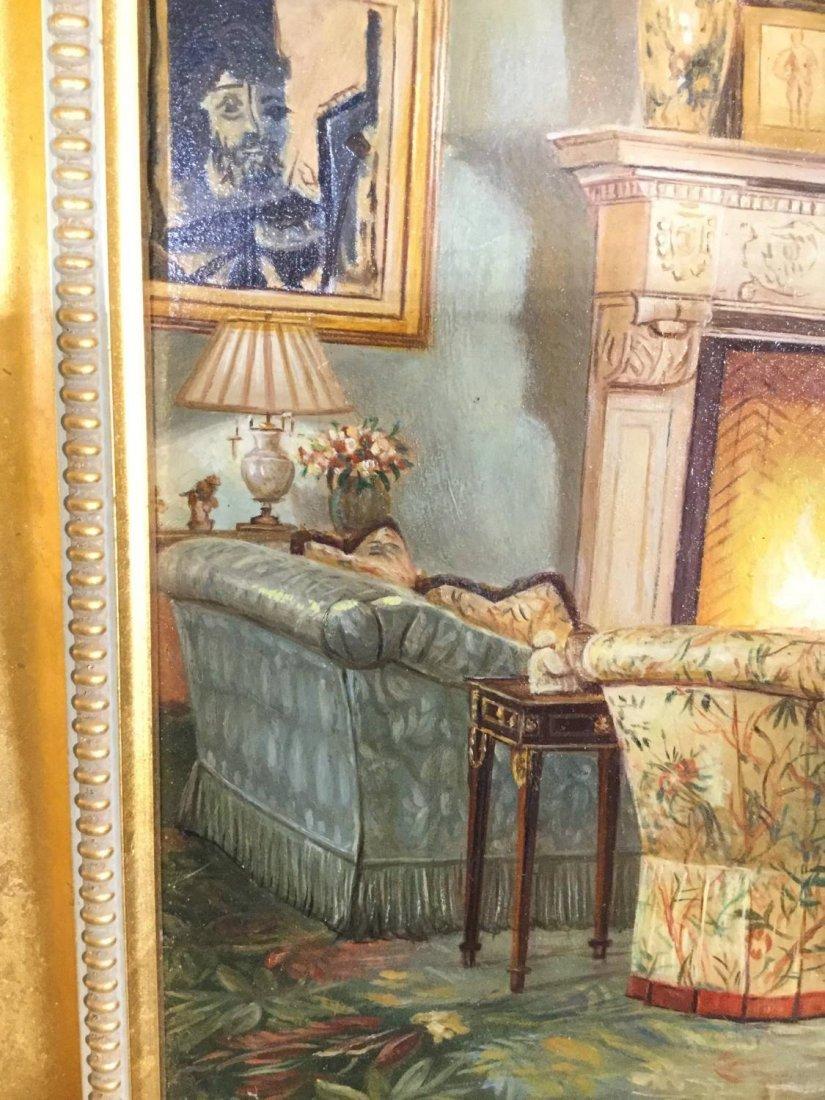 S. Lee (20th c.), interior design painting - 6