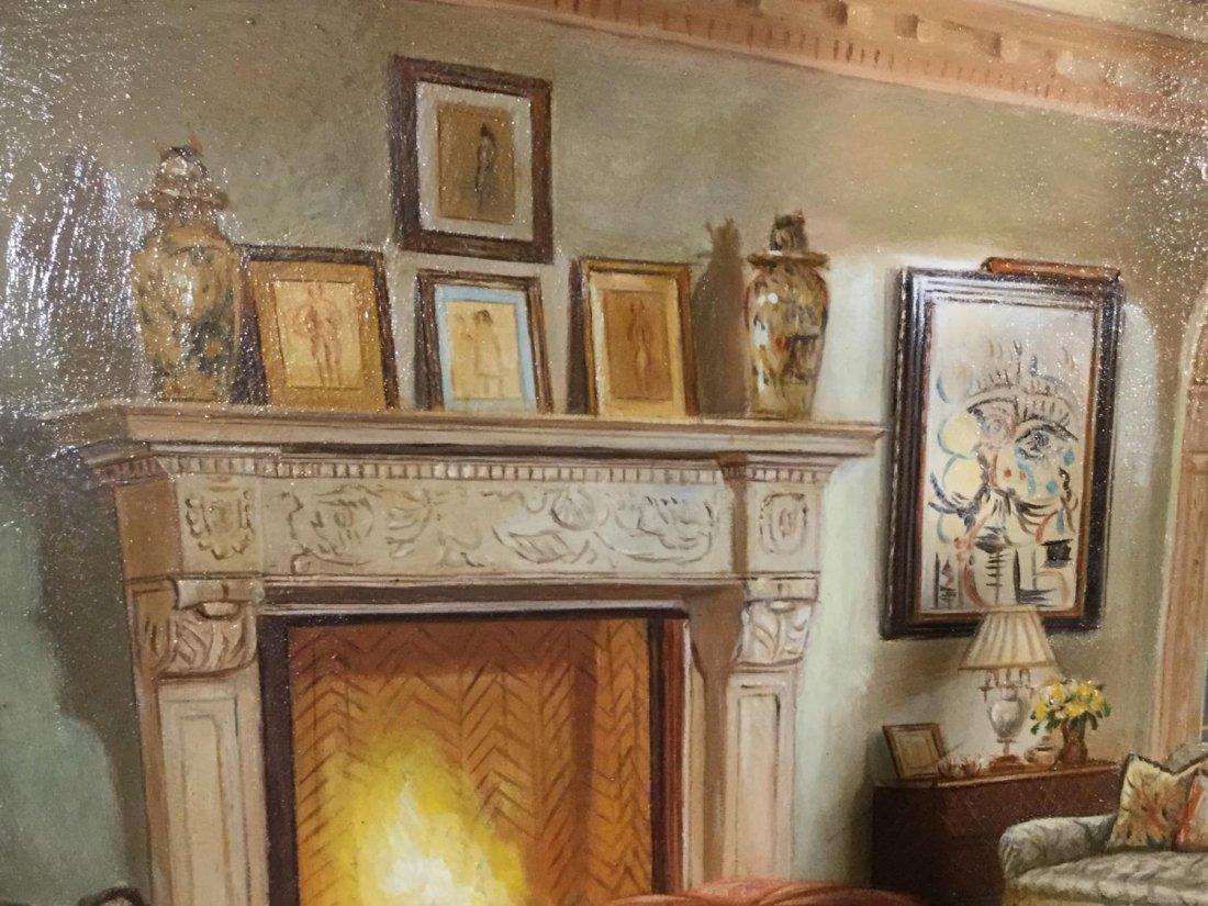 S. Lee (20th c.), interior design painting - 7