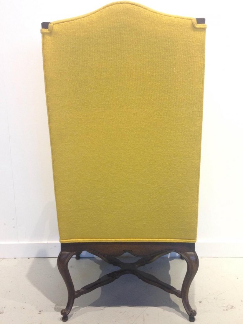 Vintage Frenchy tall back wing chair - 4
