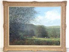 Creal or Caert 20th c large painting