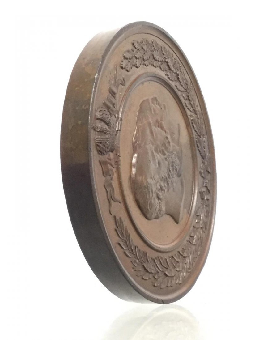 Russian Imperial bronze table medal - 2