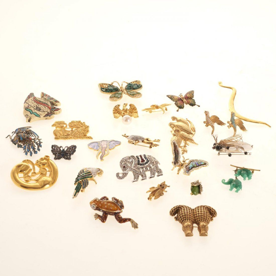 Animal and insect brooches