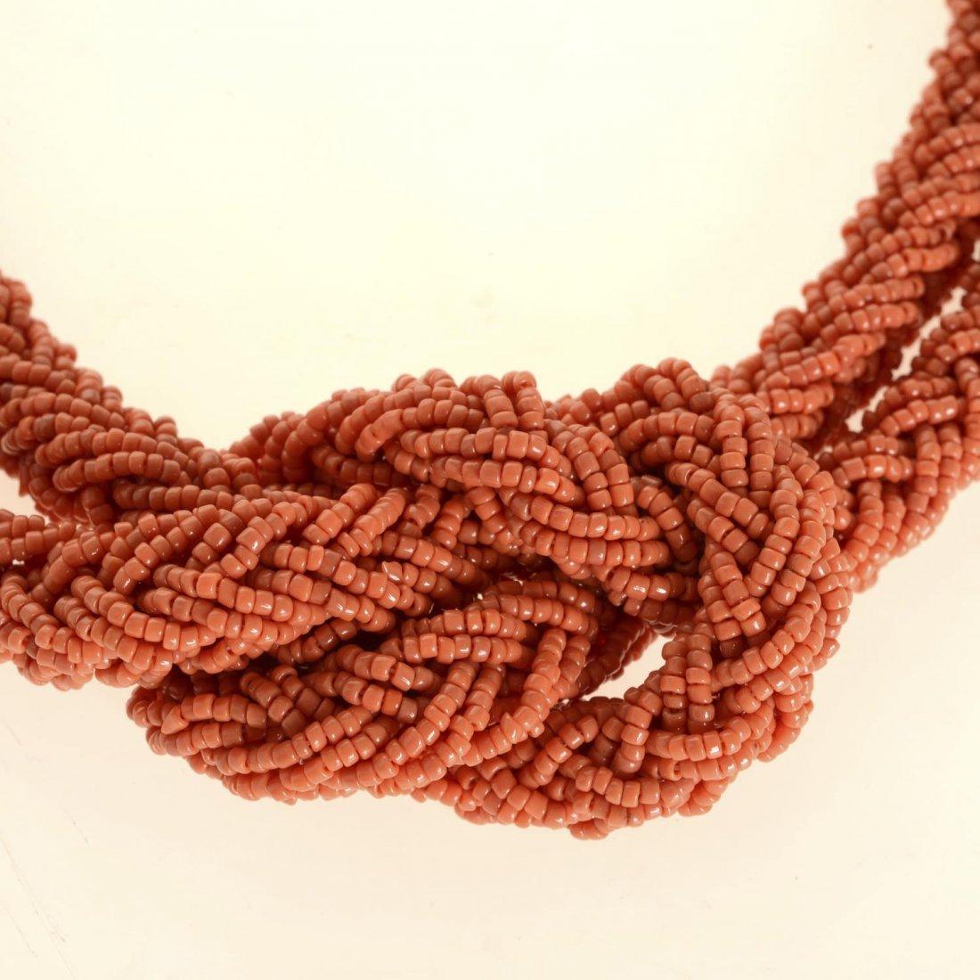 (4) pcs. Antique coral jewelry - 2