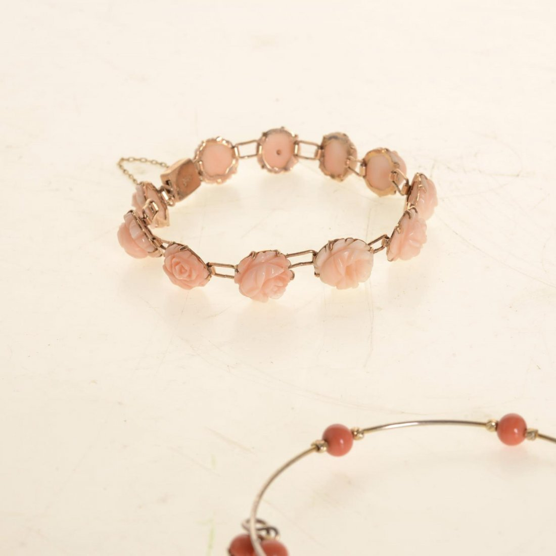 (4) pcs. Antique coral jewelry - 3