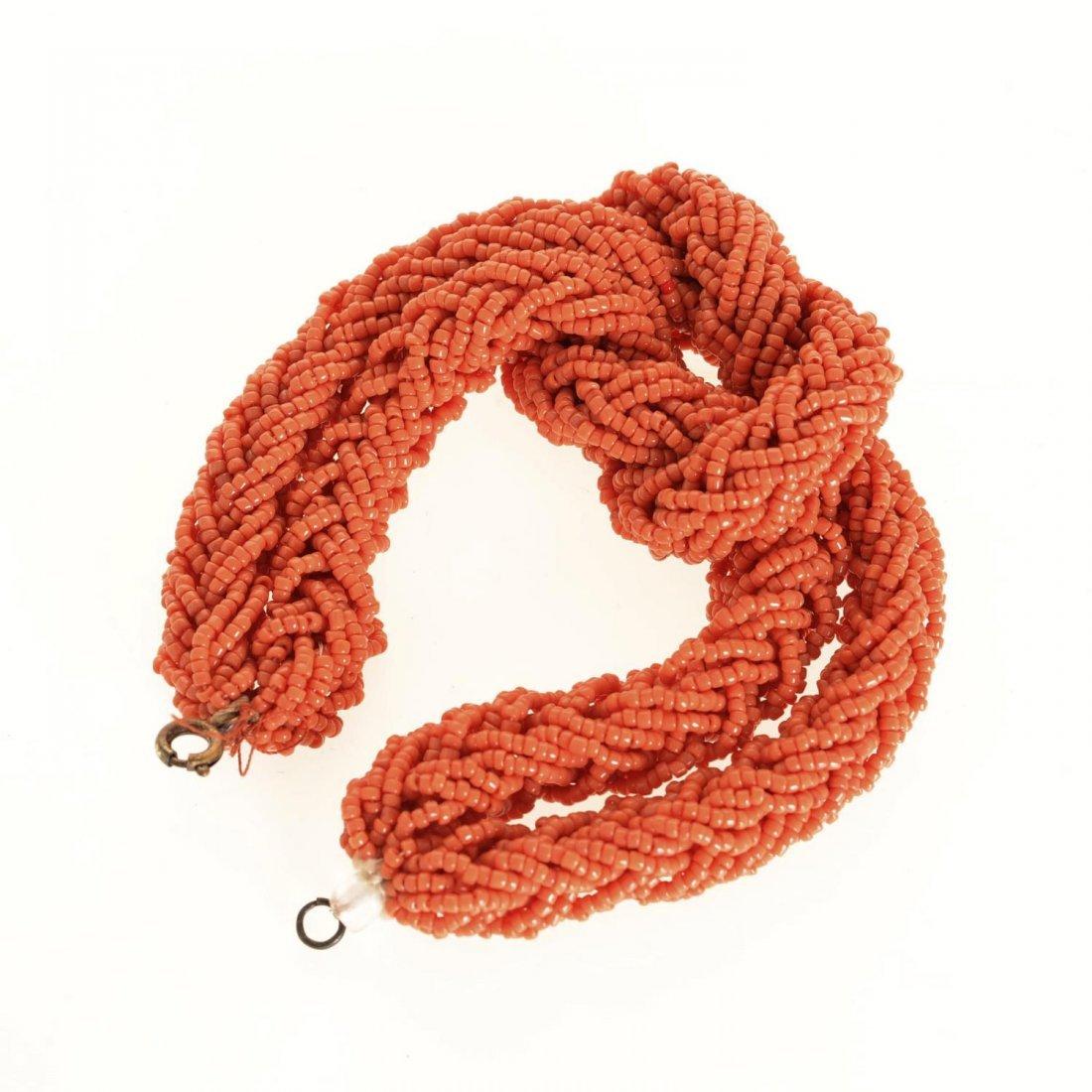 (4) pcs. Antique coral jewelry - 4
