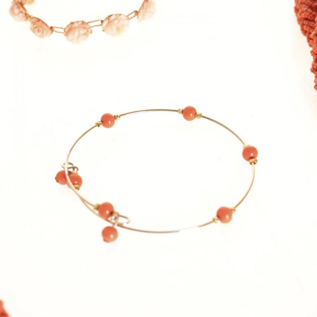 (4) pcs. Antique coral jewelry - 5