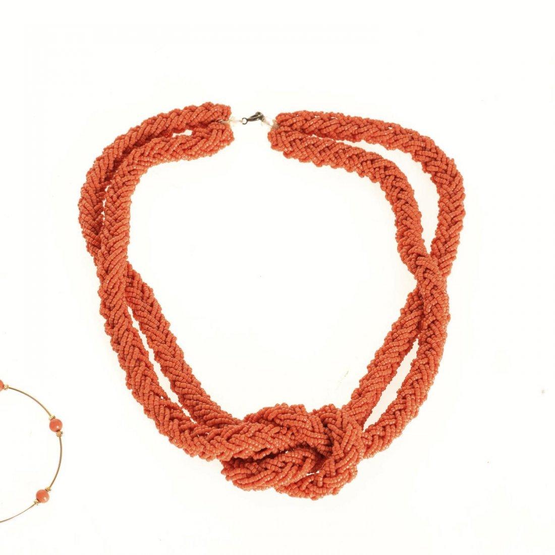 (4) pcs. Antique coral jewelry - 6