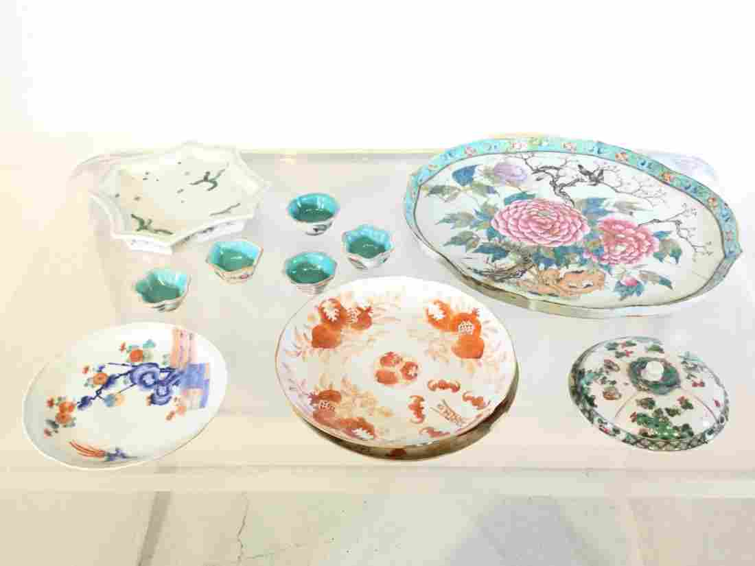 Collection (11) antique Chinese porcelains