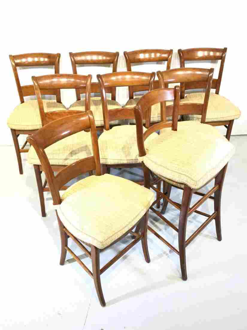 Assembled set (8) Provincial French chairs