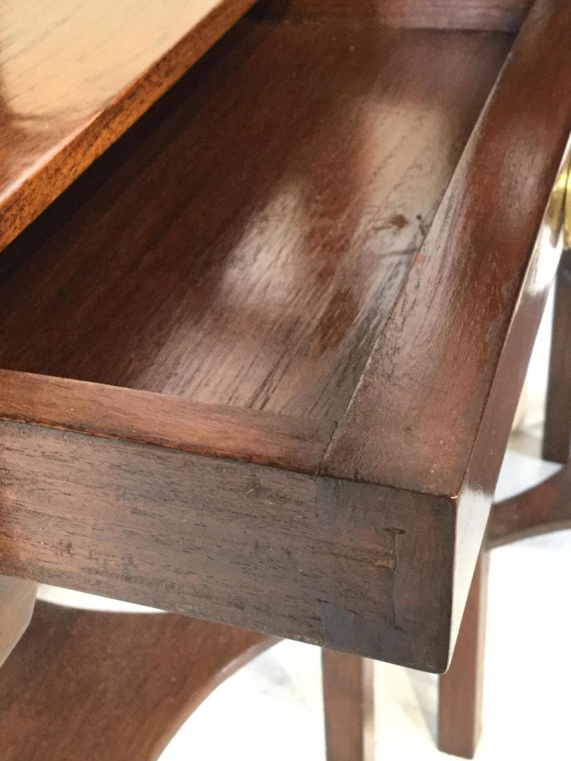 Pair George III style mahogany bedside tables - 3
