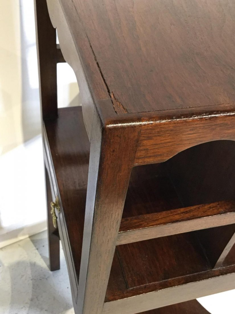 Pair George III style mahogany bedside tables - 7