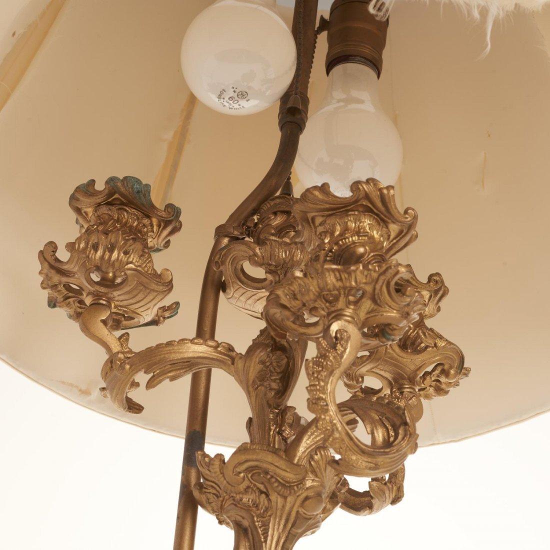 Napoleon III gilt bronze candelabra lamp - 6