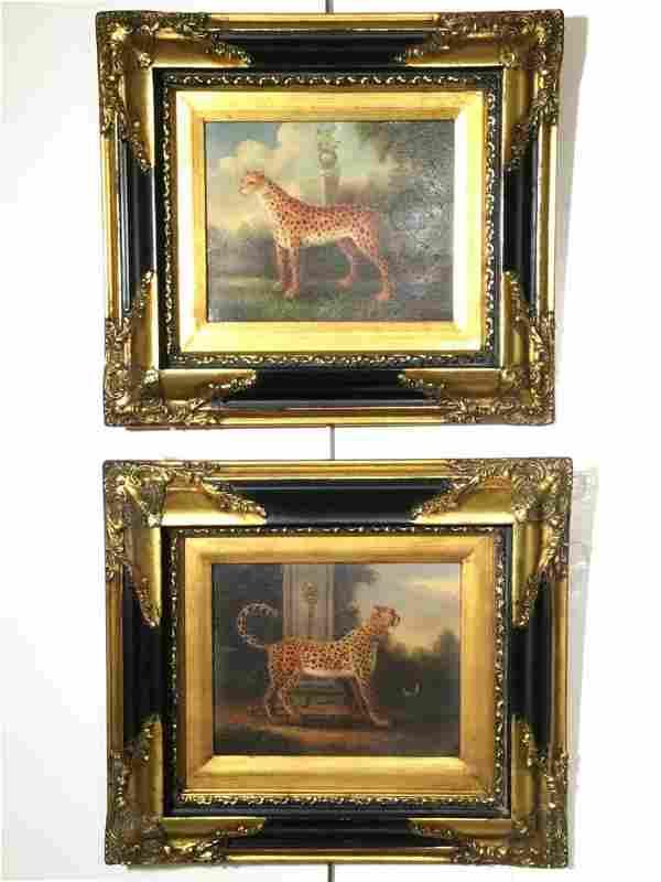 American School (20th c.), pair paintings