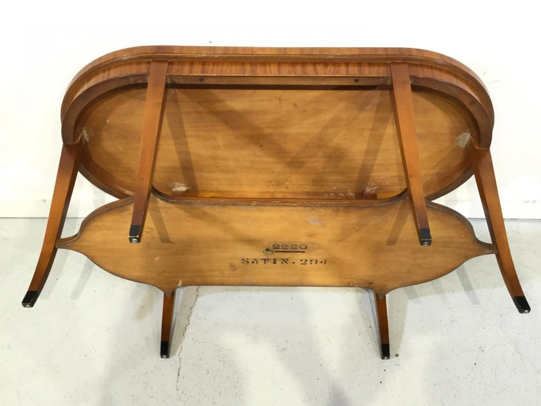 Edwardian paint decorated satinwood coffee table - 5