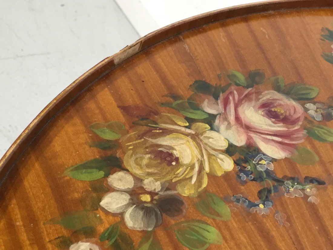 Edwardian paint decorated satinwood coffee table - 9