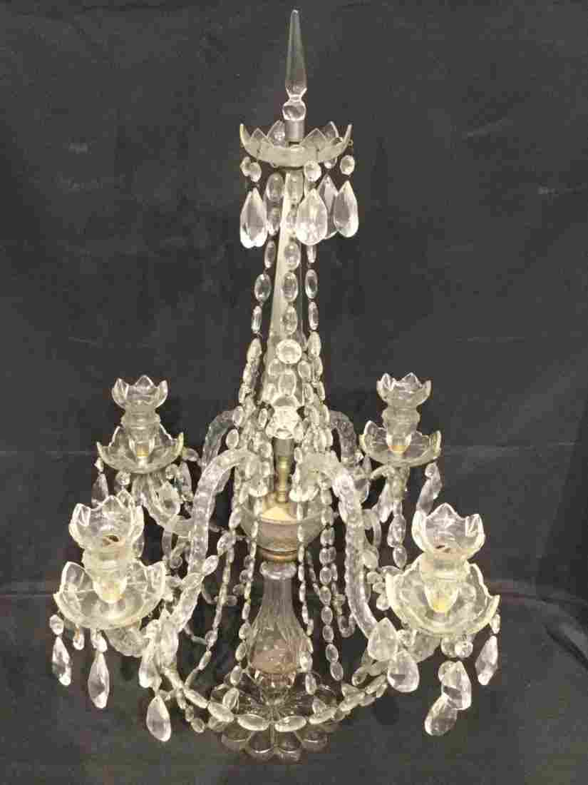 Large Anglo-Irish cut crystal candelabrum