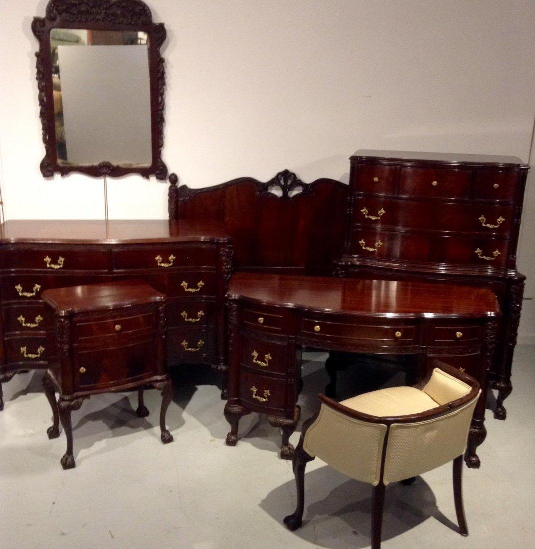 Colonial Revival (7)-piece mahogany bedroom set
