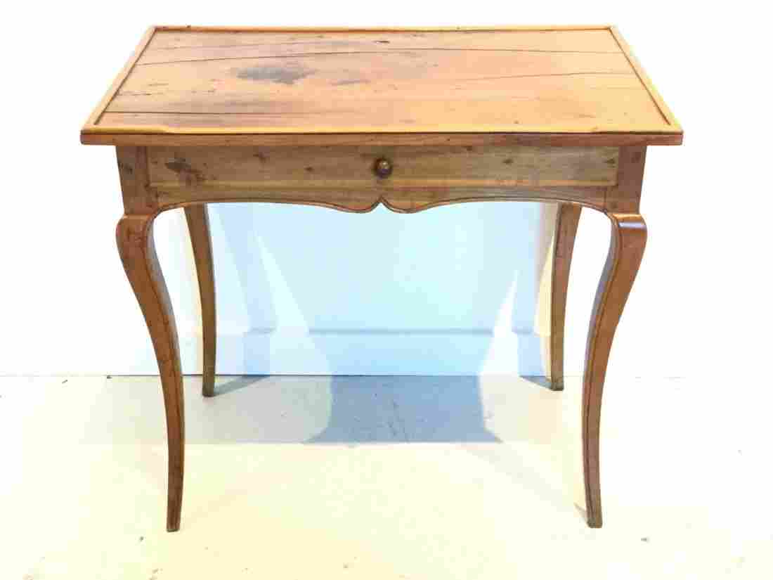 French Provincial style fruitwood side table