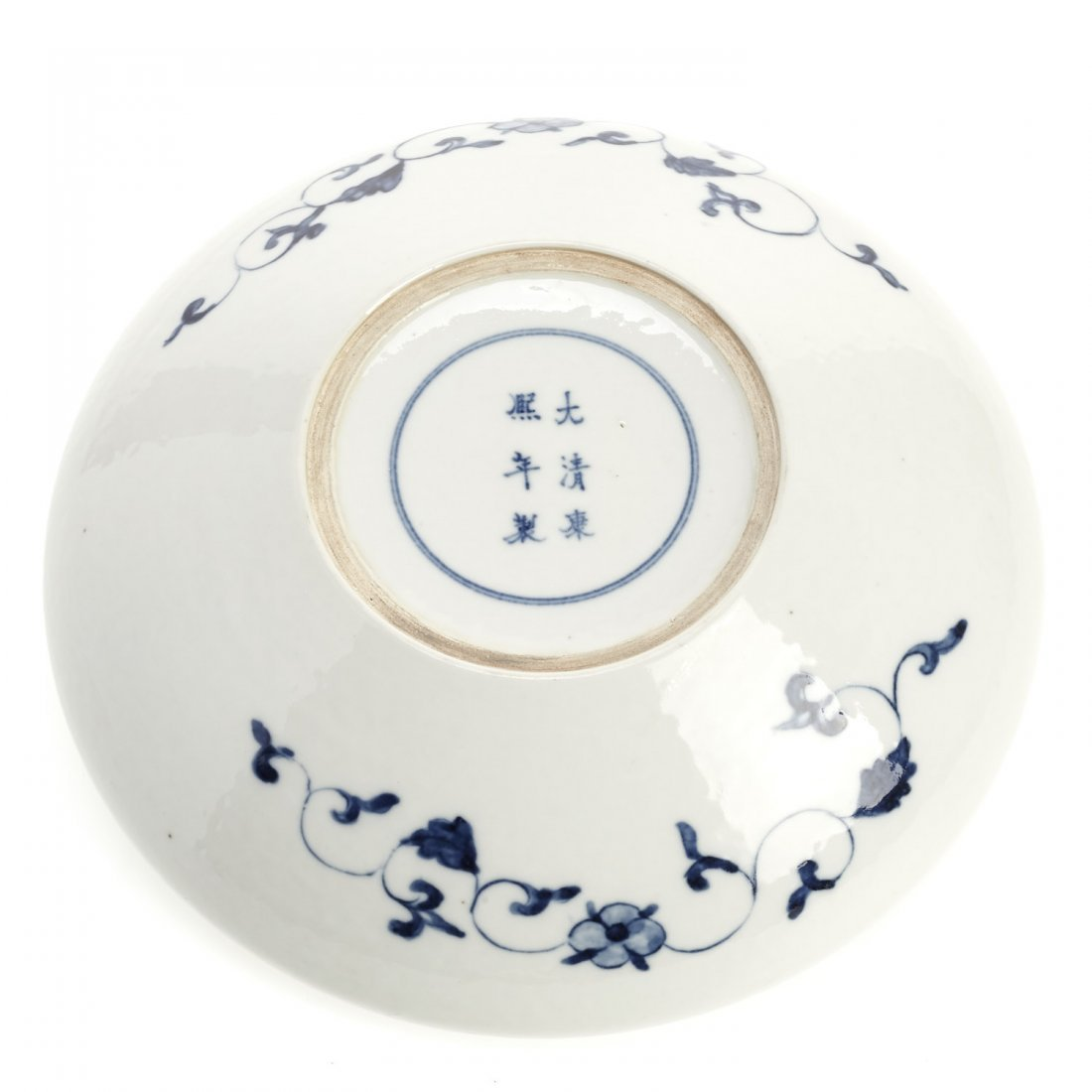 Chinese blue and white porcelain dragon dish - 4