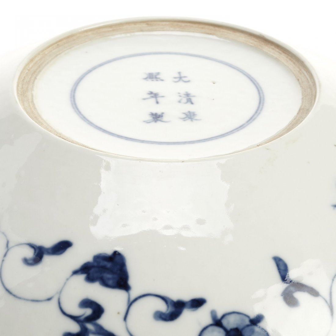 Chinese blue and white porcelain dragon dish - 5