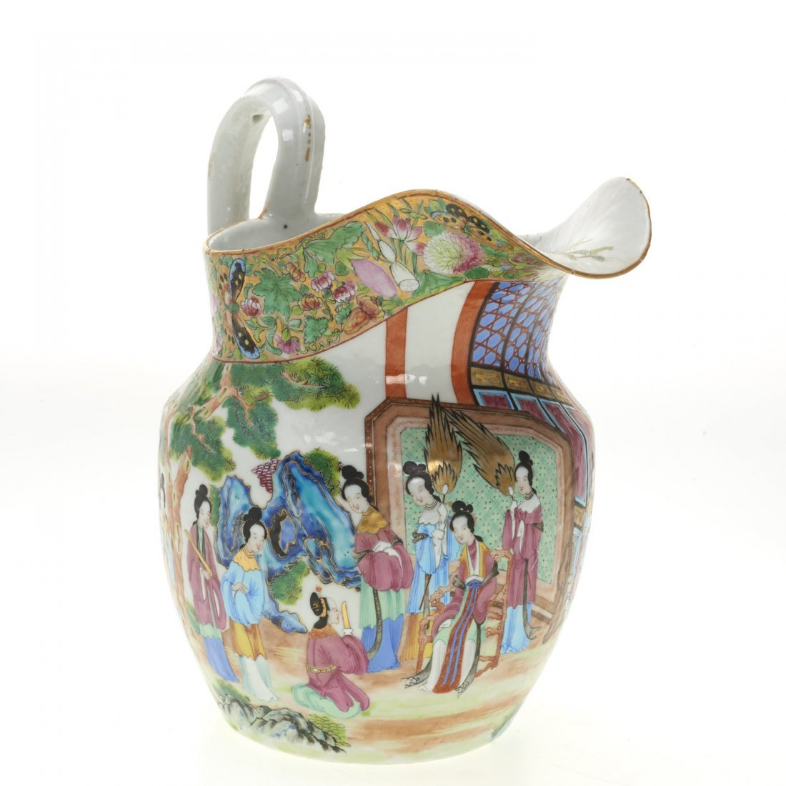 Chinese Export rose mandarin water pitcher - 2