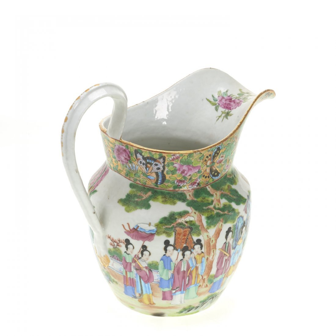 Chinese Export rose mandarin water pitcher - 3