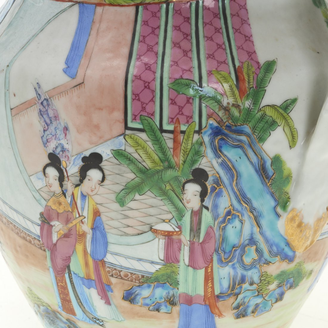 Chinese Export rose mandarin water pitcher - 5
