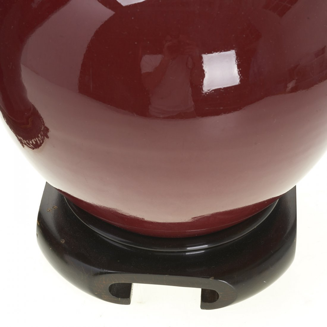 (2) Chinese porcelain oxblood vase lamps - 3