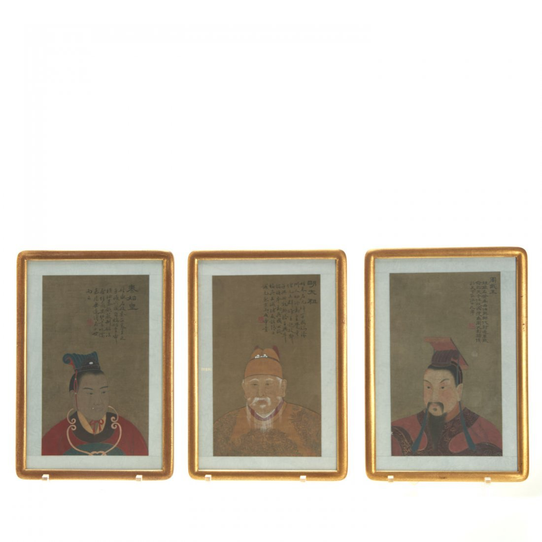 Set (8) Antique Chinese ancestral portraits - 2
