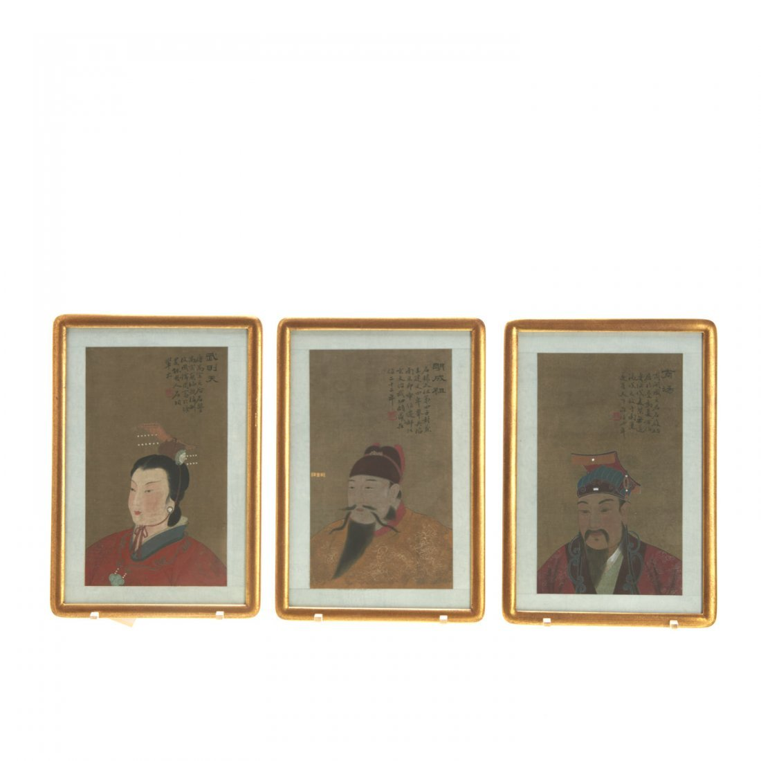 Set (8) Antique Chinese ancestral portraits - 3