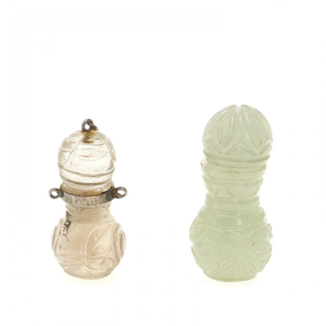 (2) Antique Chinese jade and rock crystal perfumes - 2
