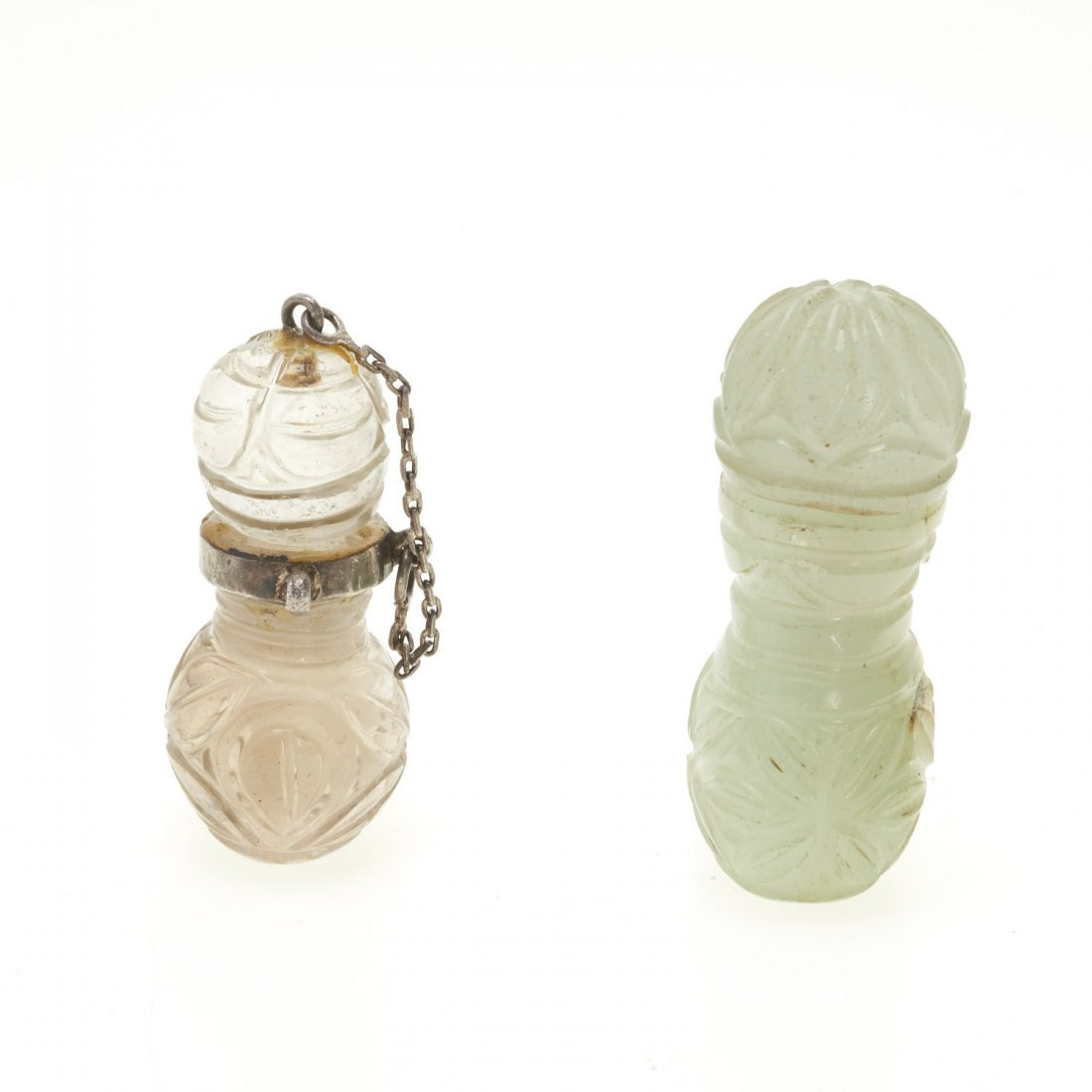 (2) Antique Chinese jade and rock crystal perfumes - 3