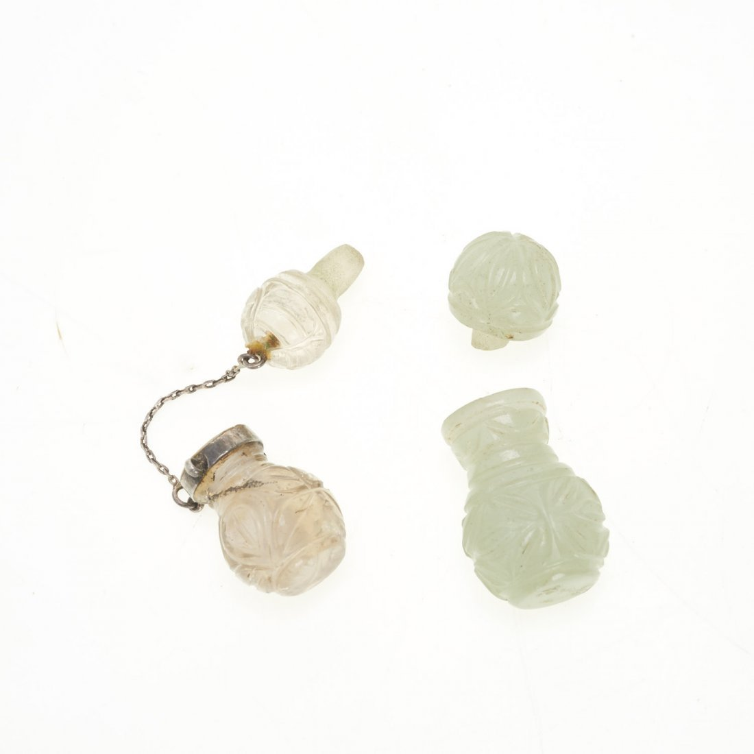 (2) Antique Chinese jade and rock crystal perfumes - 5