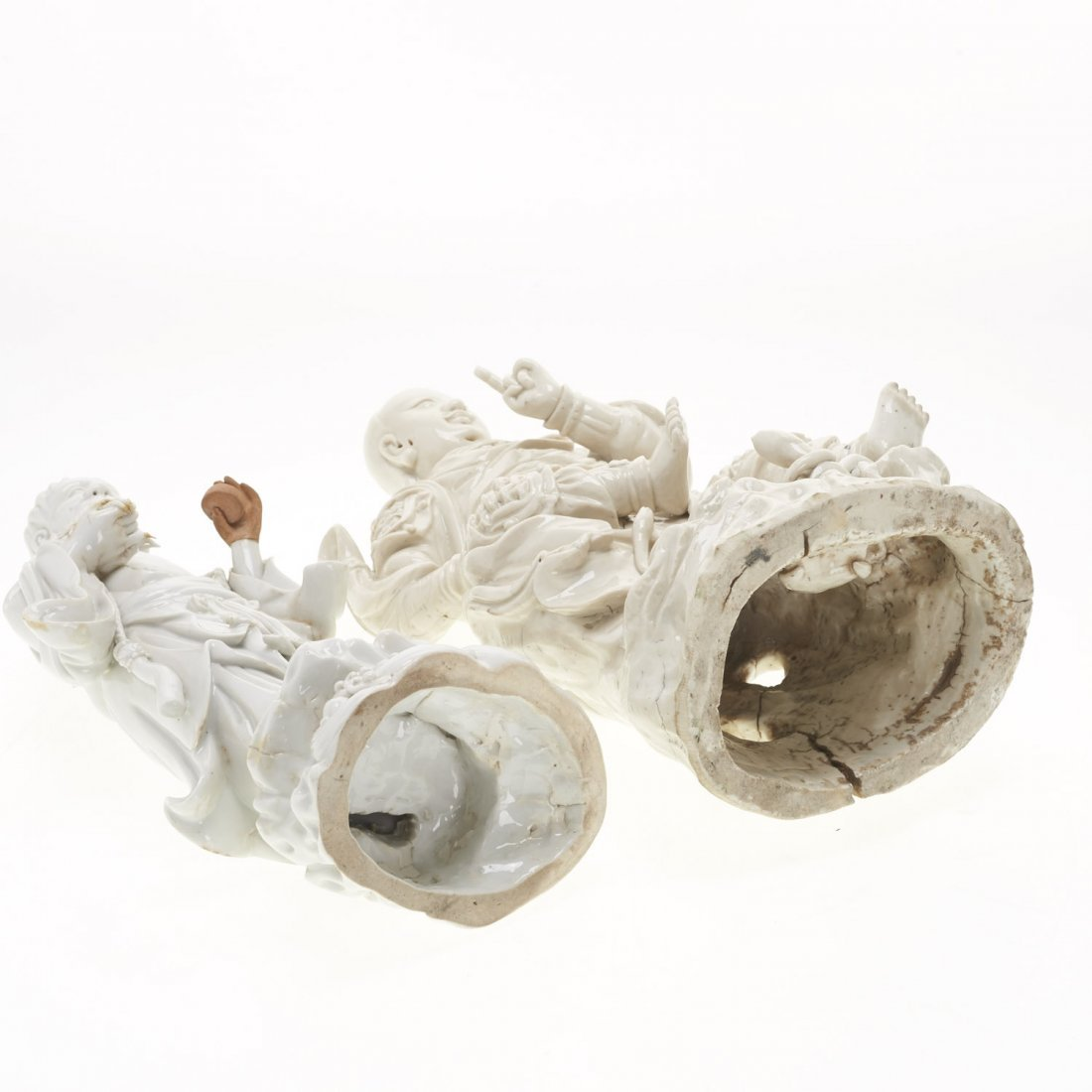 (2) Chinese blanc de chine figures - 10