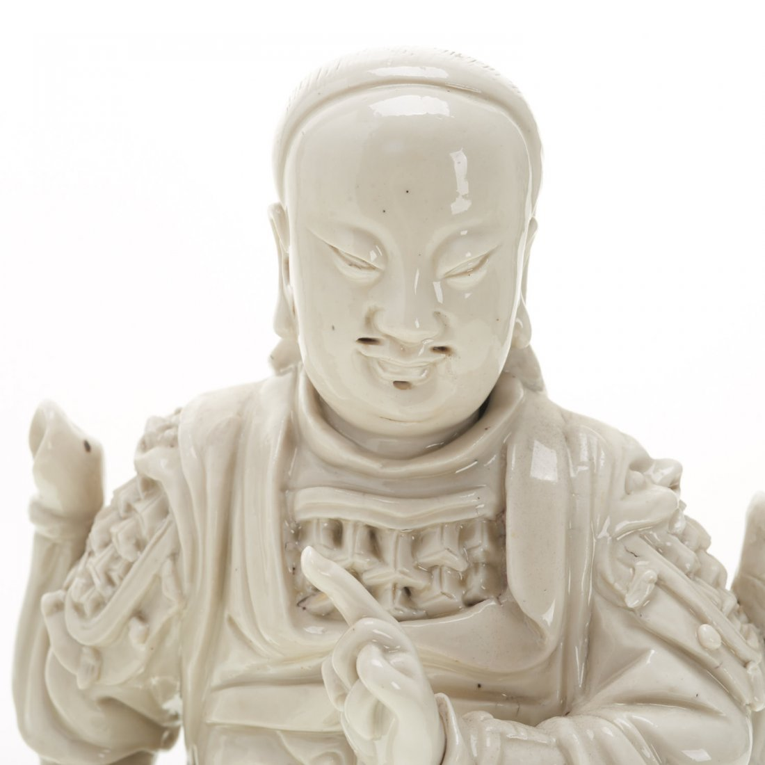 (2) Chinese blanc de chine figures - 3