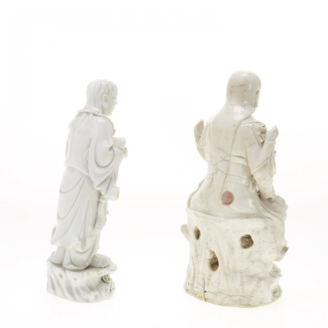 (2) Chinese blanc de chine figures - 9